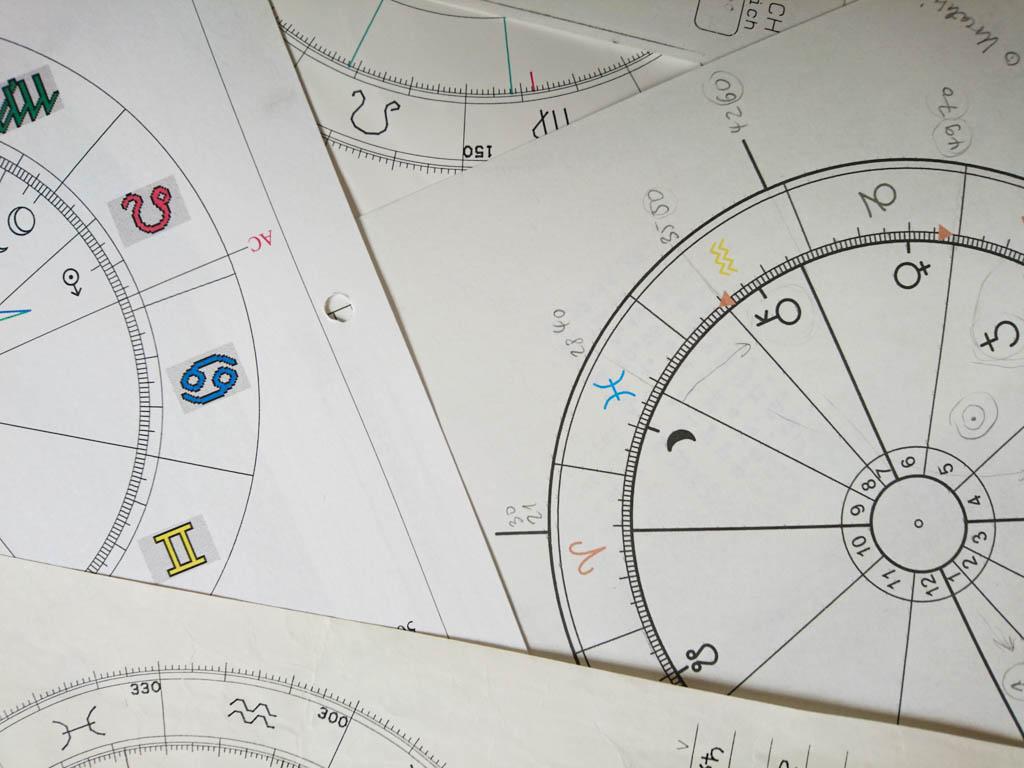 Horoskopzeichnung dienen dem Horoskoplesen